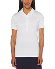 Callaway CGW437 Women Ladies' Ventilated Striped Polo at GotApparel
