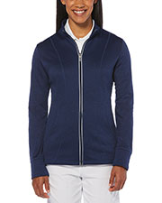 Callaway CGW510 Women Ladies' Full Zip Waffle Fleece Jacket at GotApparel