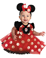 Halloween Costumes DG44958V Girls Minnie Infants Red 6-12 Months at GotApparel
