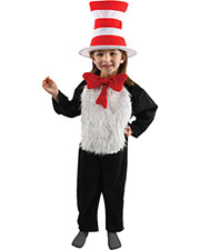 Halloween Costumes EL43301 Girls Cat In The Hat Childs 4-6 at GotApparel