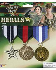 Halloween Costumes FM66224 Unisex Combat Hero Medals 3 Set at GotApparel
