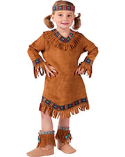 Halloween Costumes FW111021T Girls American Indian Girl Tod 3t-4t at GotApparel