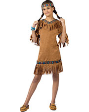 Halloween Costumes FW111022LG Girls American Indian Girl Child Lg at GotApparel
