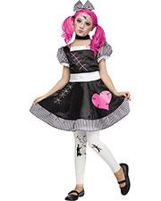 Halloween Costumes FW124072LG Girls Broken Doll Child 12-14 at GotApparel