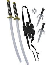 Halloween Costumes FW8276 Unisex Morris  Ninja Double Sword Set at GotApparel