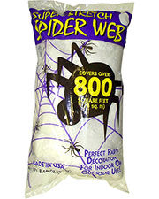 Halloween Costumes FW9523 Unisex Spider Web White 8.4 Oz at GotApparel