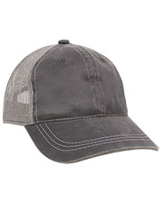 Outdoor Cap HPD-610M  Weathered Cotton Solid Mesh Back Cap at GotApparel