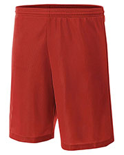"""A4 NB5184 Boys 6"""" Lined Micromesh Shorts at GotApparel"""