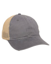 Outdoor Cap PWT-200M  Washed Twill With Tea-Stained Mesh Back Hat at GotApparel