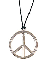 Halloween Costumes RU1596 Unisex Peace Pendant Medal at GotApparel