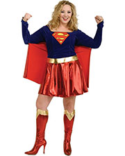Halloween Costumes RU17479 Women Supergirl Plus Size at GotApparel