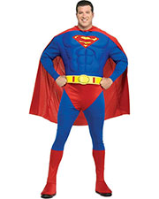 Halloween Costumes RU17487 Men Superman Musc Chest Plus at GotApparel