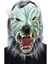 Halloween Costumes RU2639 Unisex Silver Wolf With Hair Mask at GotApparel