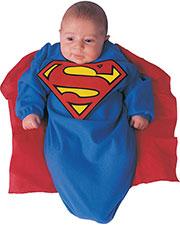 Halloween Costumes RU81105 Infants Superman Dlx Bunting Infnt at GotApparel