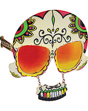 Halloween Costumes SG1587 Unisex Sunstache Sugar Skull at GotApparel