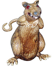 Halloween Costumes TB27032 Unisex Disgusting Rat Prop at GotApparel