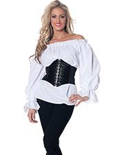 Halloween Costumes UR28302SM Women Renaissance Long Sleeve White at GotApparel