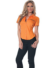 Halloween Costumes UR28314LG Women Prisoner Fitted Shirt Lg at GotApparel