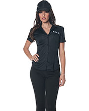 Halloween Costumes UR28320LG Women Fbi Fitted Shirt Large at GotApparel