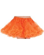 Halloween Costumes UR28382 Women Petticoat Tutu Adult Neon Orang at GotApparel