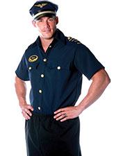 Halloween Costumes UR29023 Men Pilot Shirt Mens One Size at GotApparel