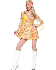 Halloween Costumes UR29098LG Women Flower Child Costume Lg at GotApparel