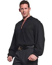 Halloween Costumes UR29299 Men Pirate Shirt Black at GotApparel
