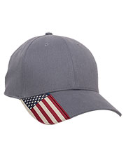 Outdoor Cap USA-300  Twill Hat With Flag Visor at GotApparel